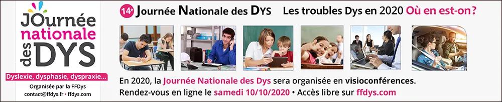 Le 10 octobre aura lieu la 14ème journée nationale des Dys en visio