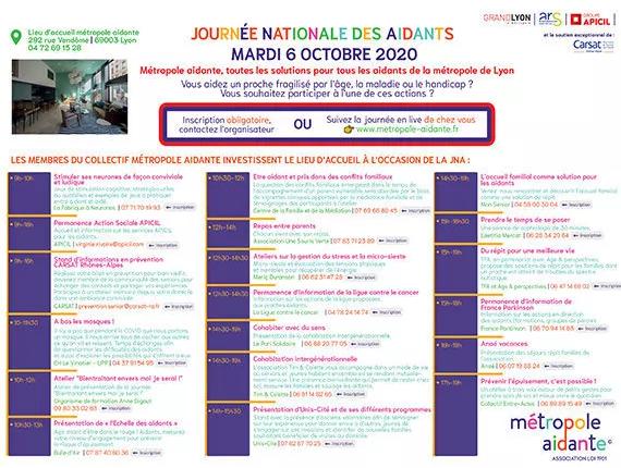 Liste des évènements organisés par le collectif Metropole Aidante
