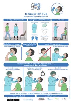 Poster décrivant les étapes du test PCR en images