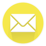 Bulle jaune contenant une enveloppe blanche