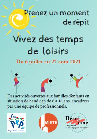 Affiche du programme d'activités